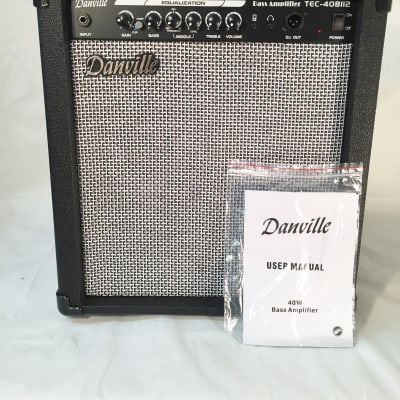 "Danville 40 Watt Bass Amp-12"" Speaker-Built-In Compressor-Model TEC-40B112"