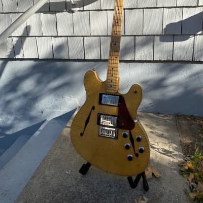 Fender Starcaster 1975 Natural Flame Vintage w/Case and Manual for sale