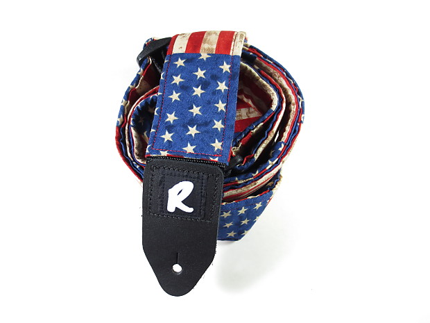 american flag guitar strap rustic stars and stripes go reverb. Black Bedroom Furniture Sets. Home Design Ideas