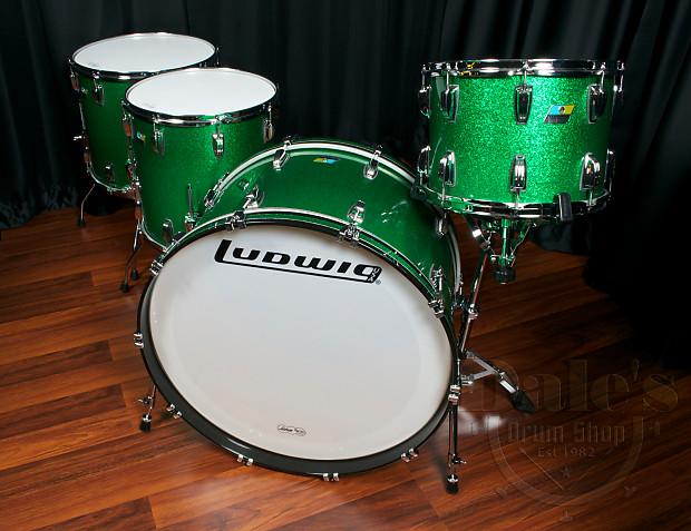 ludwig drum sets usa classic maple green sparkle 14 reverb. Black Bedroom Furniture Sets. Home Design Ideas