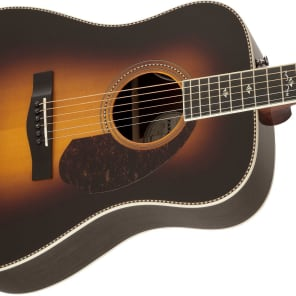 Fender Paramount Series PM-1 Deluxe Sitka Spruce/Indian Rosewood Dreadnought Vintage Sunburst