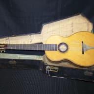<p>William B Tilton parlor guitar with original coffin case c. 1865</p>  for sale