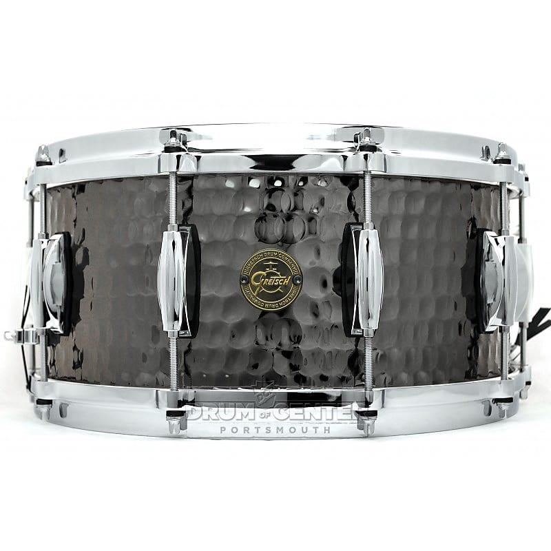 gretsch hammered black steel snare drum s1 6514 bsh reverb. Black Bedroom Furniture Sets. Home Design Ideas