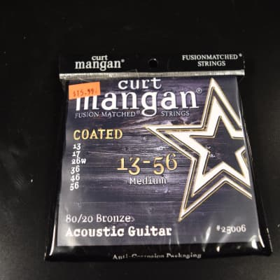 Curt Mangan 80/20 Bronze Coated Acoustic Guitar Strings Med 13-56