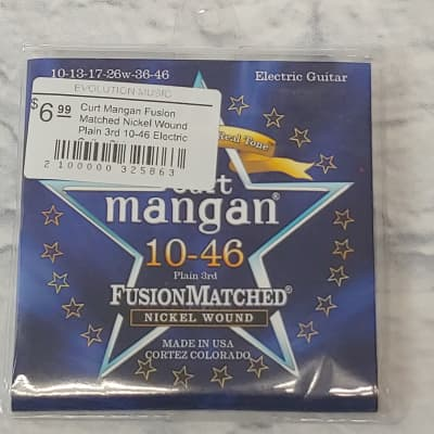 Curt Mangan Fusion Matched Nickel Wound Plain 3rd 10-46 Electric Guitar Strings