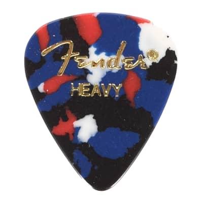 Fender 351 Picks Confetti Heavy 4 Pack (48) Bundle
