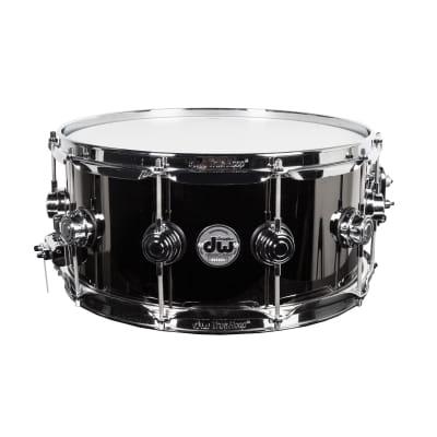 """Drum Workshop Black Nickel Over Brass 6.5""""x14"""" Snare Drum"""