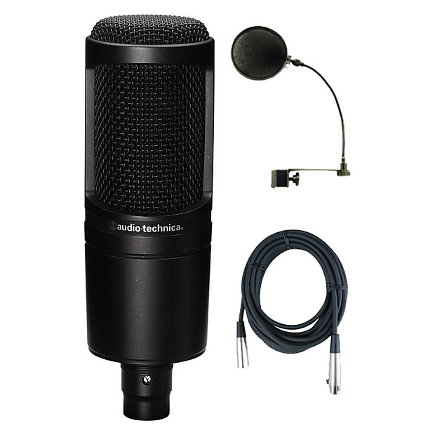audio technica at2020 studio microphone bundle reverb. Black Bedroom Furniture Sets. Home Design Ideas