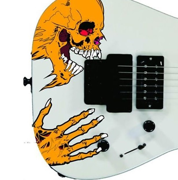 Pushead Custom Skull Metallica Stickers Vinyl Guitars Reverb - Guitar custom vinyl stickers