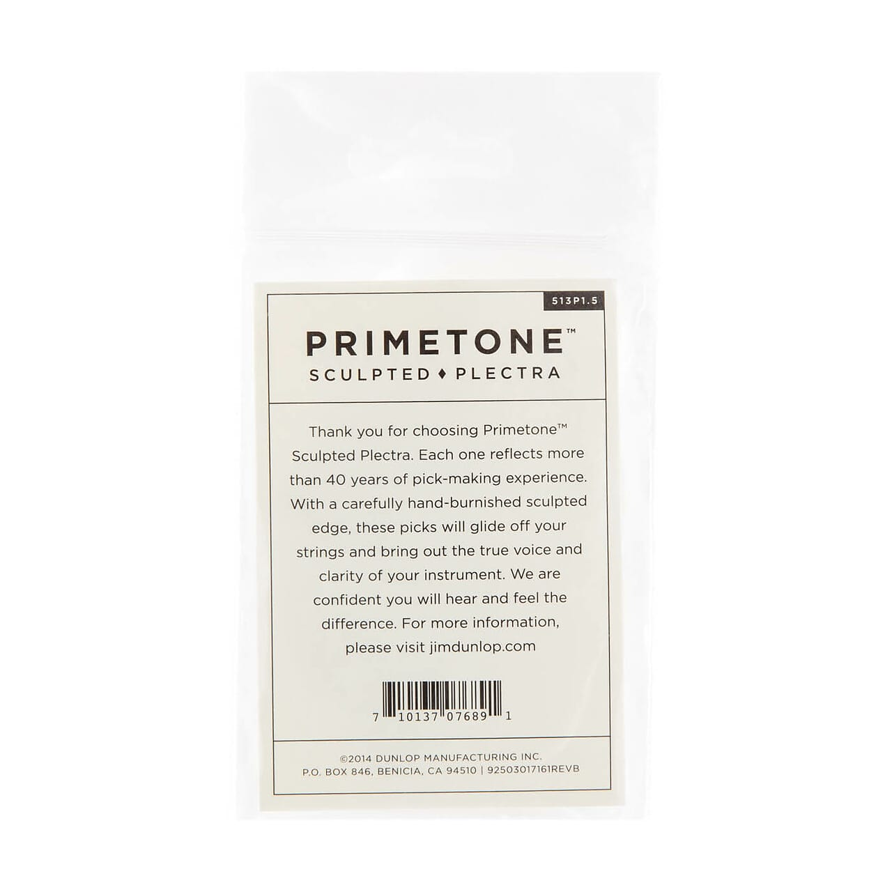 Dunlop 513P150 Primetone Triangle Smooth Pick 1.5mm (3-Pack)