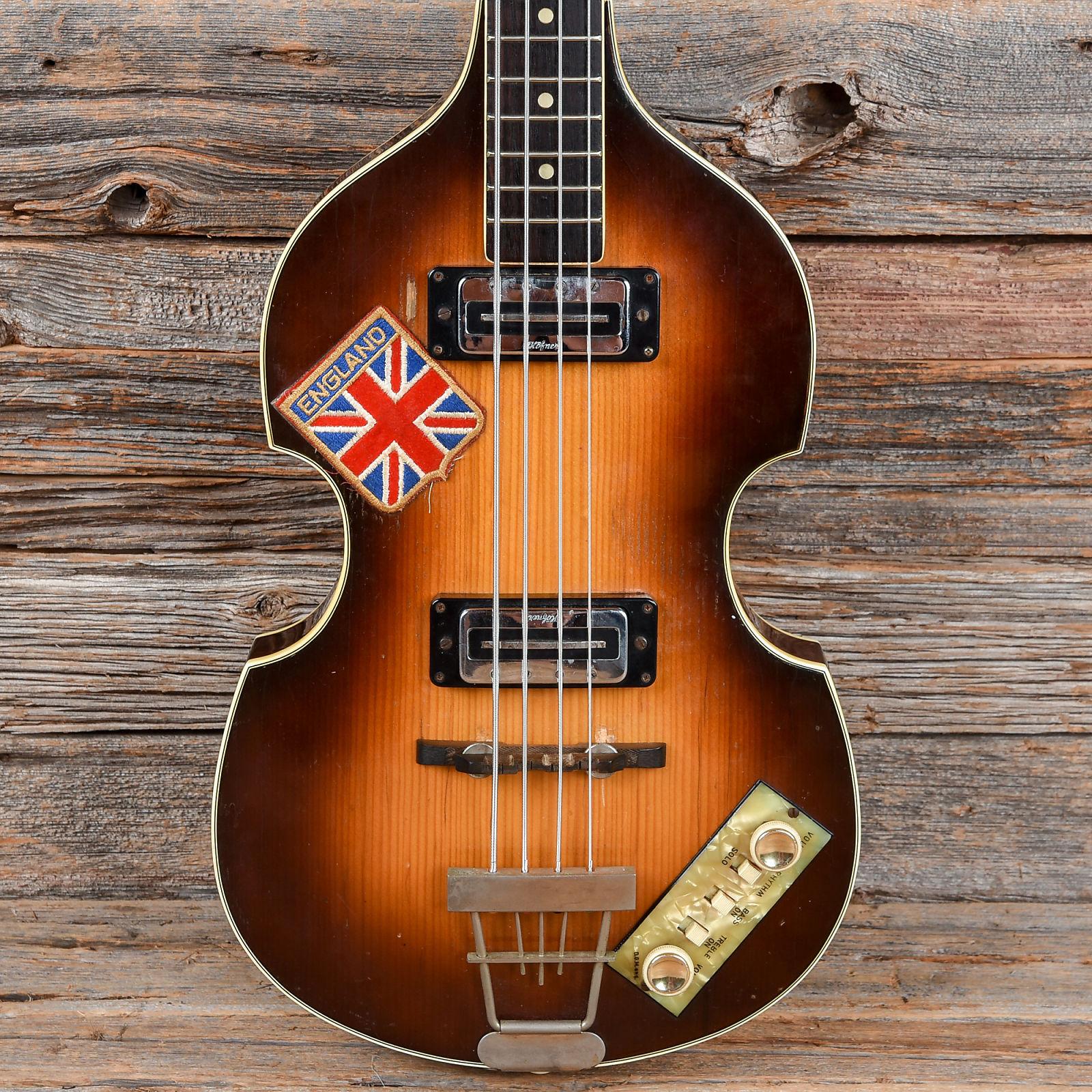 Hofner 500 1 Violin Bass Sunburst 1960s Used Wiring Diagram