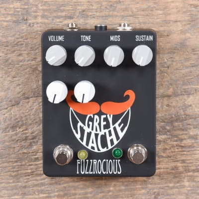 Fuzzrocious Grey Stache Muff Fuzz with Octave Jawn Mod CME Exclusive Black/Orange (CME Exclusive)