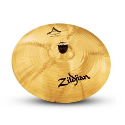 "Zildjian A Custom Crash Cymbal - 17"" Medium Brilliant Finish Brilliant"