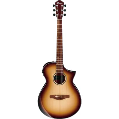 Ibanez AEWC300NNB Natural Browned Burst High Gloss Acoustic-Electric Guitar for sale
