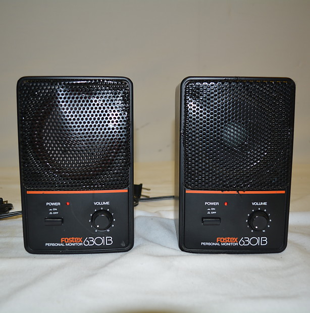 Pair of classic Fostex 6301B nearfield monitor speakers Lovely - Luxury sound monitor Trending