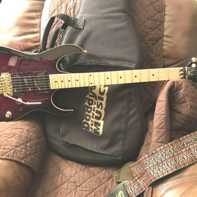 1992,Ibanez EX-370 Series Deep Purple Burst/Map-le Body&Neck 22,Jumbo Fret Guitar+Bag/RARE. for sale