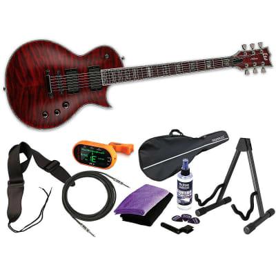 ESP LTD Deluxe EC-1000QM STBC See Thru Black Cherry NEW  FREE MEGA BUNDLE 1 for sale