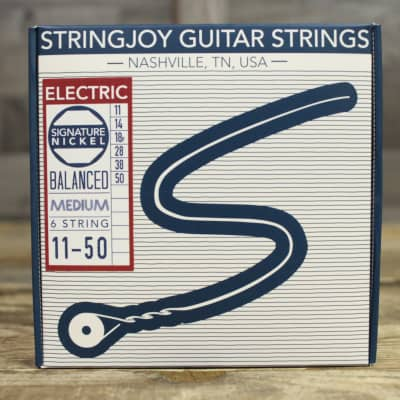 Stringjoy Signatures - Balanced Medium Gauge (11-50) Nickel Wound Electric Guitar Strings