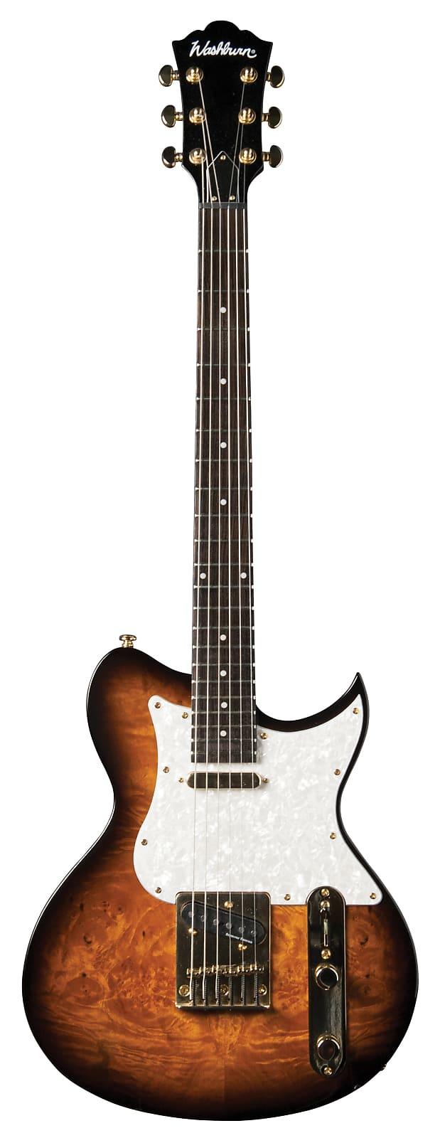 Washburn Idol T16 Burled Maple Top Singlecut Vintage Sunburst w/ Seymour Duncan