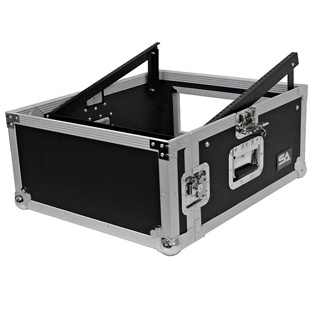 4 space rack case with slant mixer top amp effect pa dj pro reverb. Black Bedroom Furniture Sets. Home Design Ideas