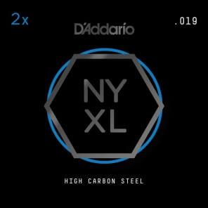 D'Addario NYXL 2-Pack Plain Steel Guitar Strings .019