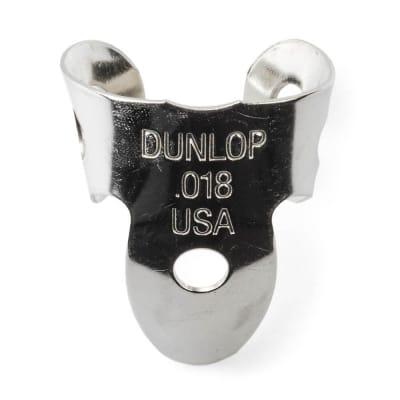 Dunlop 36R018 Nickel Silver Mini .018mm Fingerpicks (20-Pack)