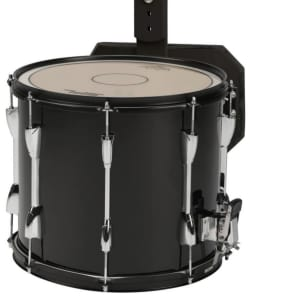 "Sound Percussion Labs MSD1412BK 14x12"" Marching Snare Drum with Carrier"