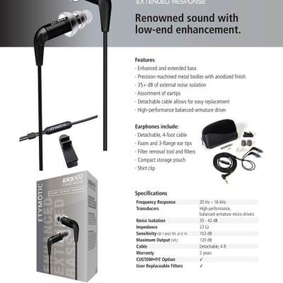 Etymotic ER3XR In-Ear Earphones Extended Response - 262427