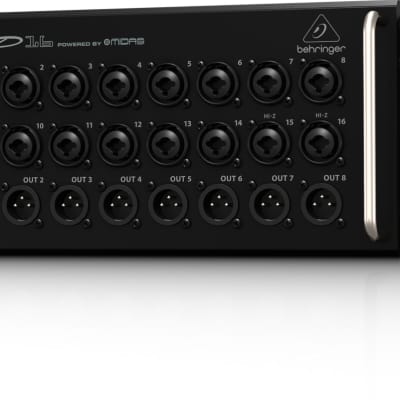 BEHRINGER SD16 I/O Stage Box 16 Remote-Controllable MIDAS Preamps, 8 Outputs + Warranty