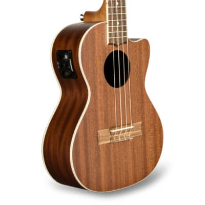 Lanikai MA-CET Mahogany Tenor Acoustic-Electric Ukulele in Natural Mahogany