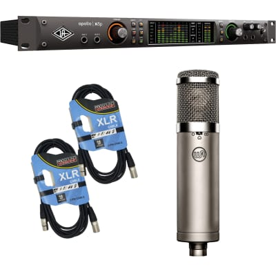 Universal Audio Apollo x8p Heritage Edition 16 x 22 Thunderbolt, Warm Audio WA73-EQ Preamp, (2) XLR Cables Bundle