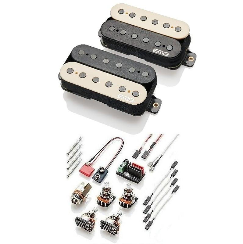 Black EMG JR Daemonum Set Jim Root Guitar 81//60 Combo Pickup Floyd Rose Spaced Long Shaft