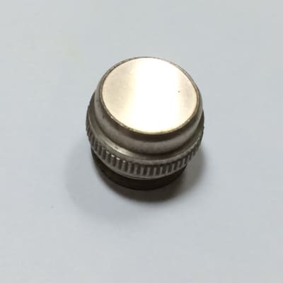 Vintage Smooth Glass Amplifier Jewel Lens, CLEAR FROSTED, Fits Fender and Other Amplifiers