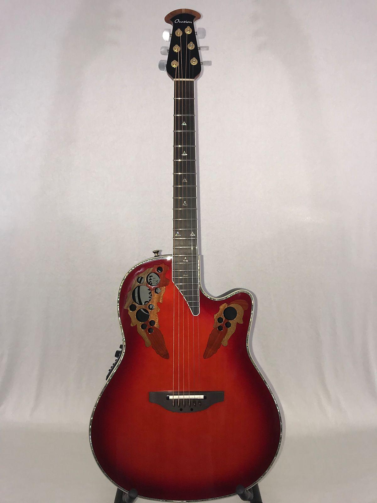 Guitars & Basses Musical Instruments & Gear Ovation Custom Elite C2078 Ax-rtd Deep Contour Guitar Red Tear Drop Acoustic-ele