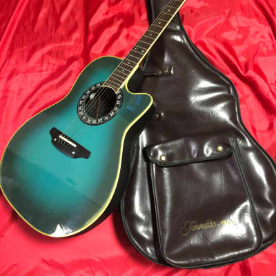 Morris TORNADO BY MORRIS Z II Electric Acoustic Guitar with Soft Case  1990's Blue for sale
