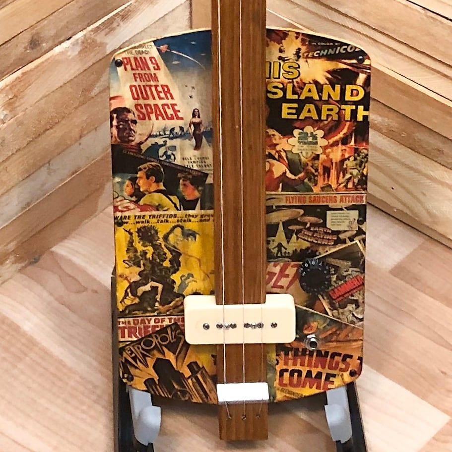 3 string  Slide Electric Guitar Sci-Fi