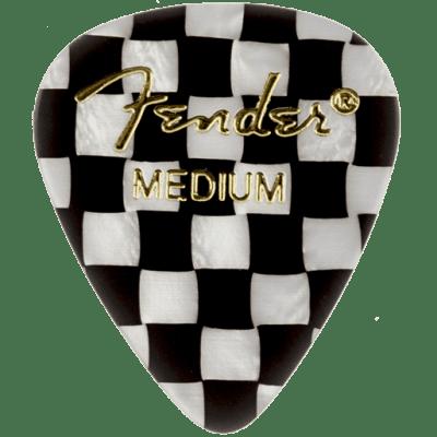 Fender 198-0351-302 351 Graphic Pick Pack, Checker, Medium, 12 Count