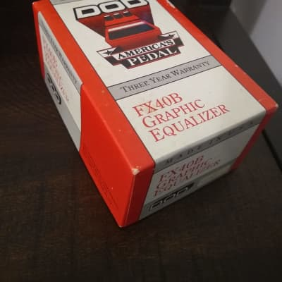 DOD BOX, Manual, Catalog, Stickers ONLY for DOD Graphic Equalizer FX40B c.1990 for sale