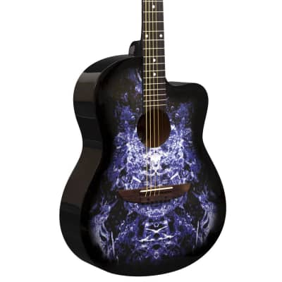 Lindo  933C 'Alien' Purple Acoustic Guitar & Gigbag for sale