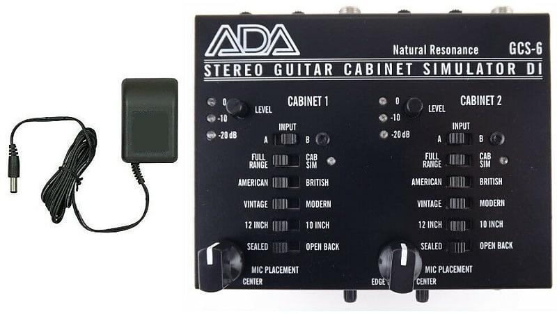 ada amplification gcs 6 stereo guitar cabinet simulator di reverb. Black Bedroom Furniture Sets. Home Design Ideas