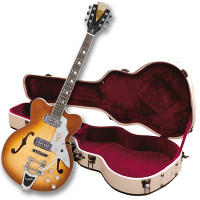 Kay Reissue  Artist Demo Jazz II K775V Electric Guitar with Bigsby FREE $250 Case - Ice Tea Sunburst for sale