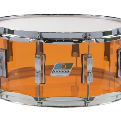 Ludwig Vistalite Amber 6.5x14 Zep Bonham Bowtie Lug Snare Drum | Made in USA | NEW Authorized Dealer