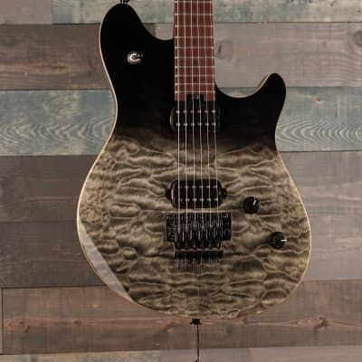 EVH Wolfgang WG Standard QM  Baked Maple Fingerboard, Black Fade for sale