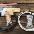 LAVA Solder-Free XL Pedalboard Kit 20ft Cable 20 RA V2 Plugs - BLACK & WHITE image