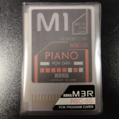 Korg M3R Memory Card RSC-5S Piano M-1 N.O.S. 1989