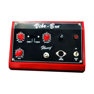 Shin-ei VB-1 Vibe-Bro Chorus Vibrato Pedal Red Finish