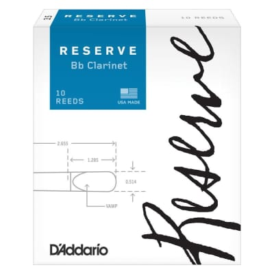 Rico DCR1030 Reserve Bb Clarinet Reeds - Strength 3.0 (10-Pack)