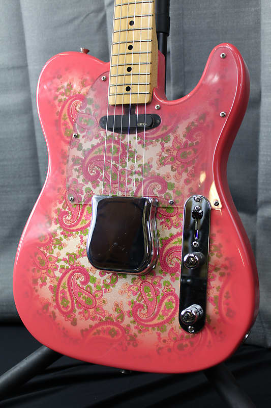 fender cij 39 69 reissue pink paisley telecaster 2008 pink reverb. Black Bedroom Furniture Sets. Home Design Ideas
