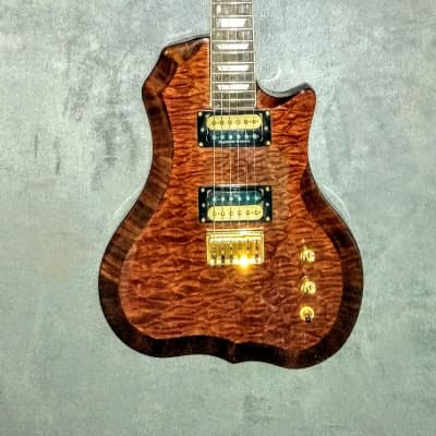 Occhineri Custom Guitar. Waterfall Mahogany for sale