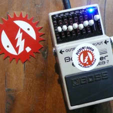 Boss GEB-7 Graphic Bass EQ Equalizer Alchemy Audio Modified Guitar Effects Pedal + Box